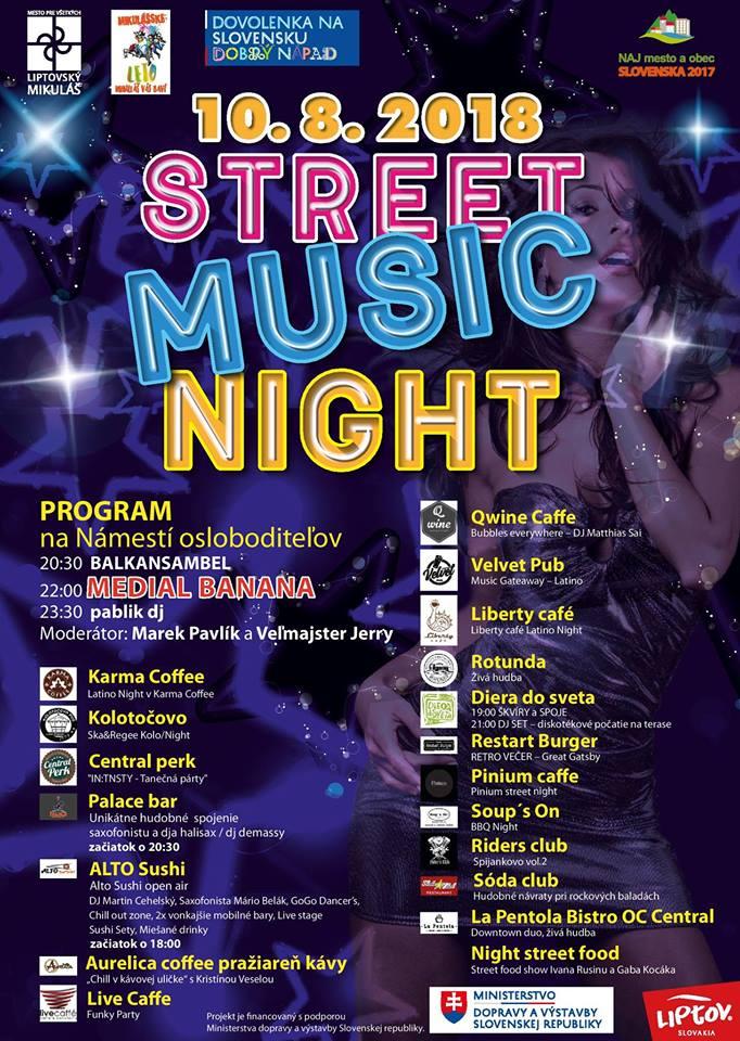 Liptov akcie udalosti lipovzije liptov zije street music night 2018